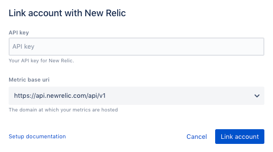 How to link account in New Relic