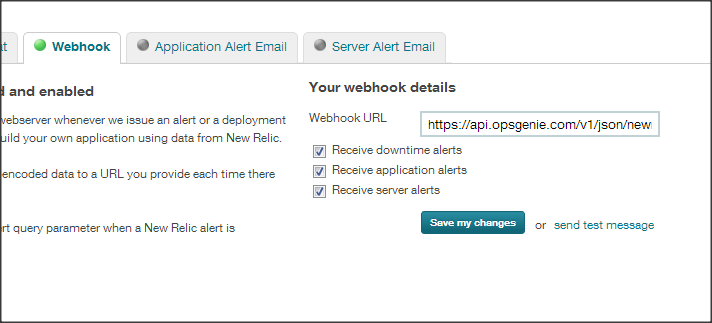 New Relic webhook