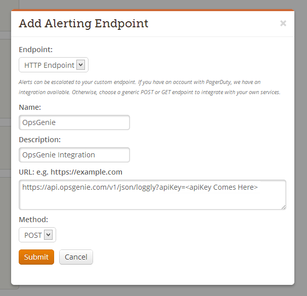 Loggly add alerting endpoint