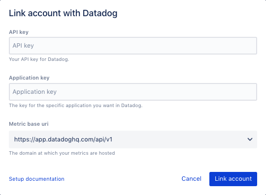 Datadog link account example