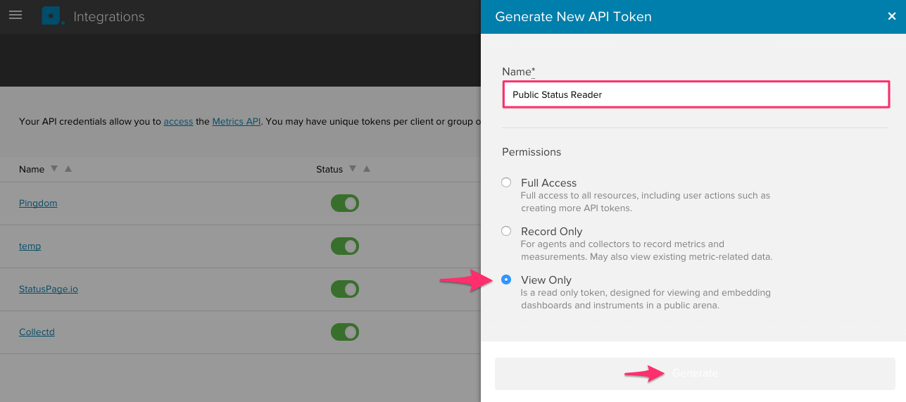 How to generate an API token