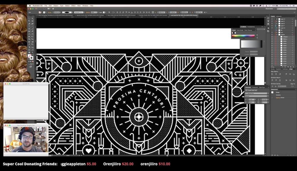 Alex streaming STARDECK design process
