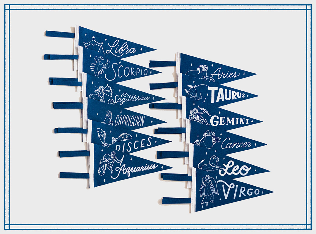 Zodiac Constellation Pennants by Positive Pennants