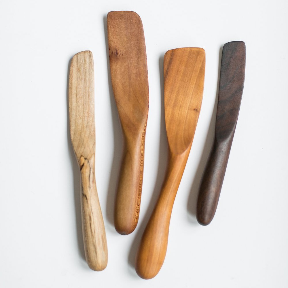 Mixed Wooden Spreaders and Sautee Spatulas