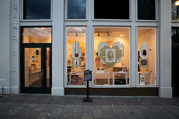 ShopIndie window display