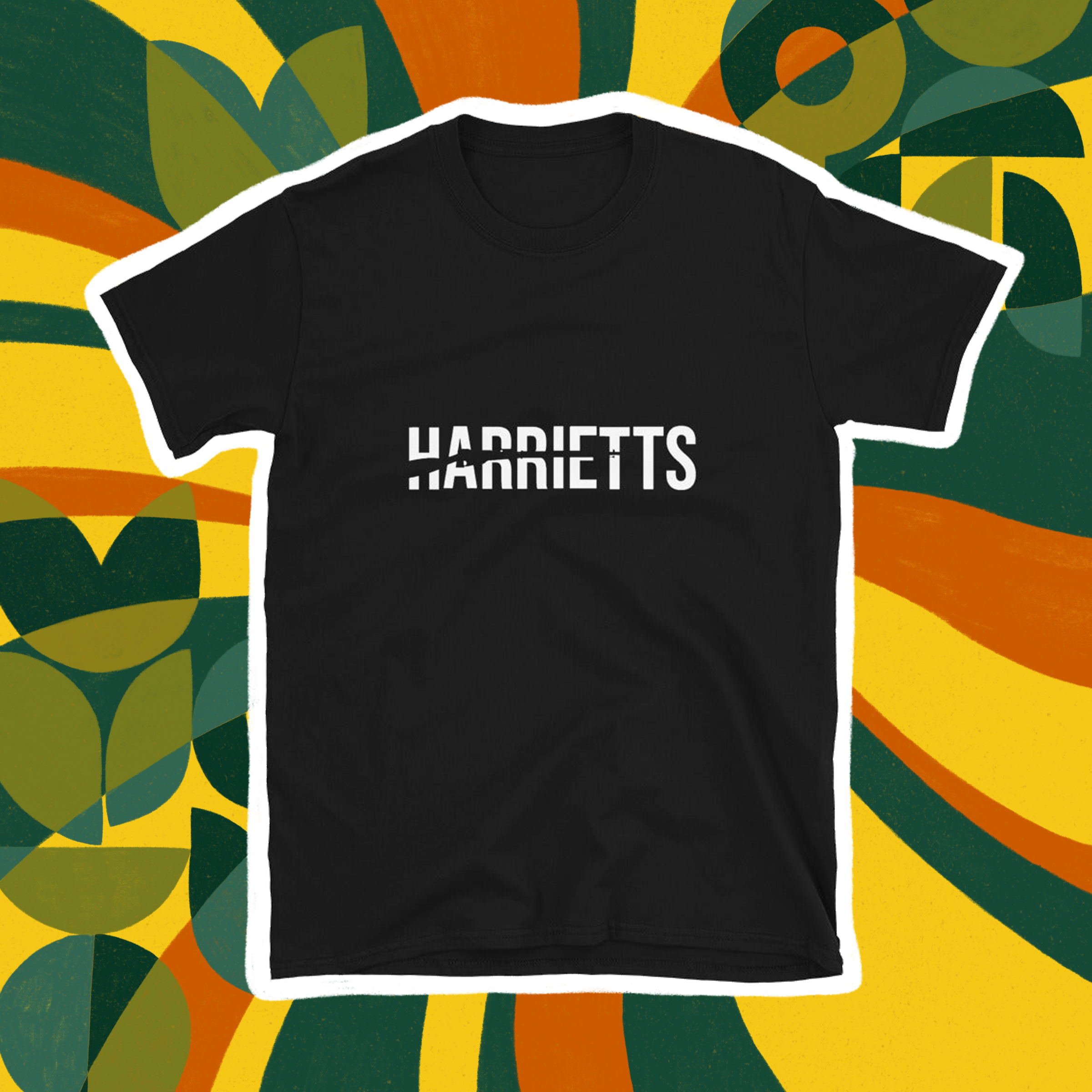 Harriett's Bookshop logo tee