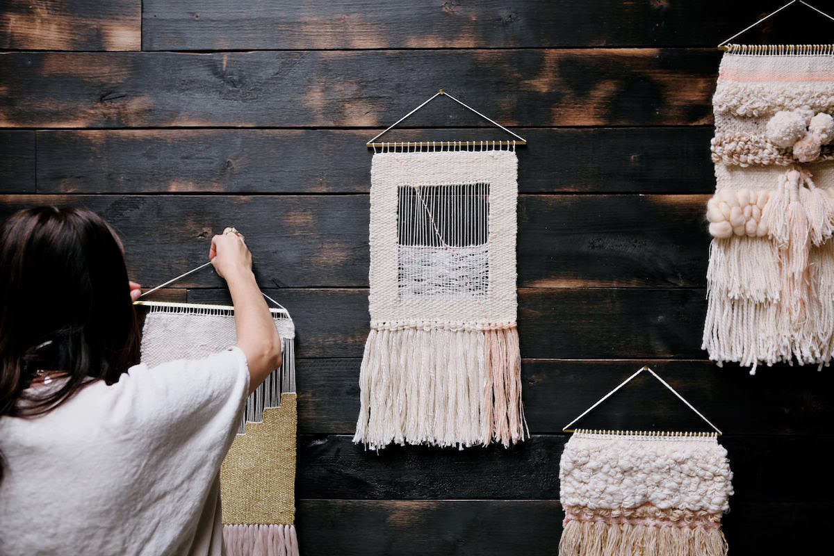Weaving workshop wall