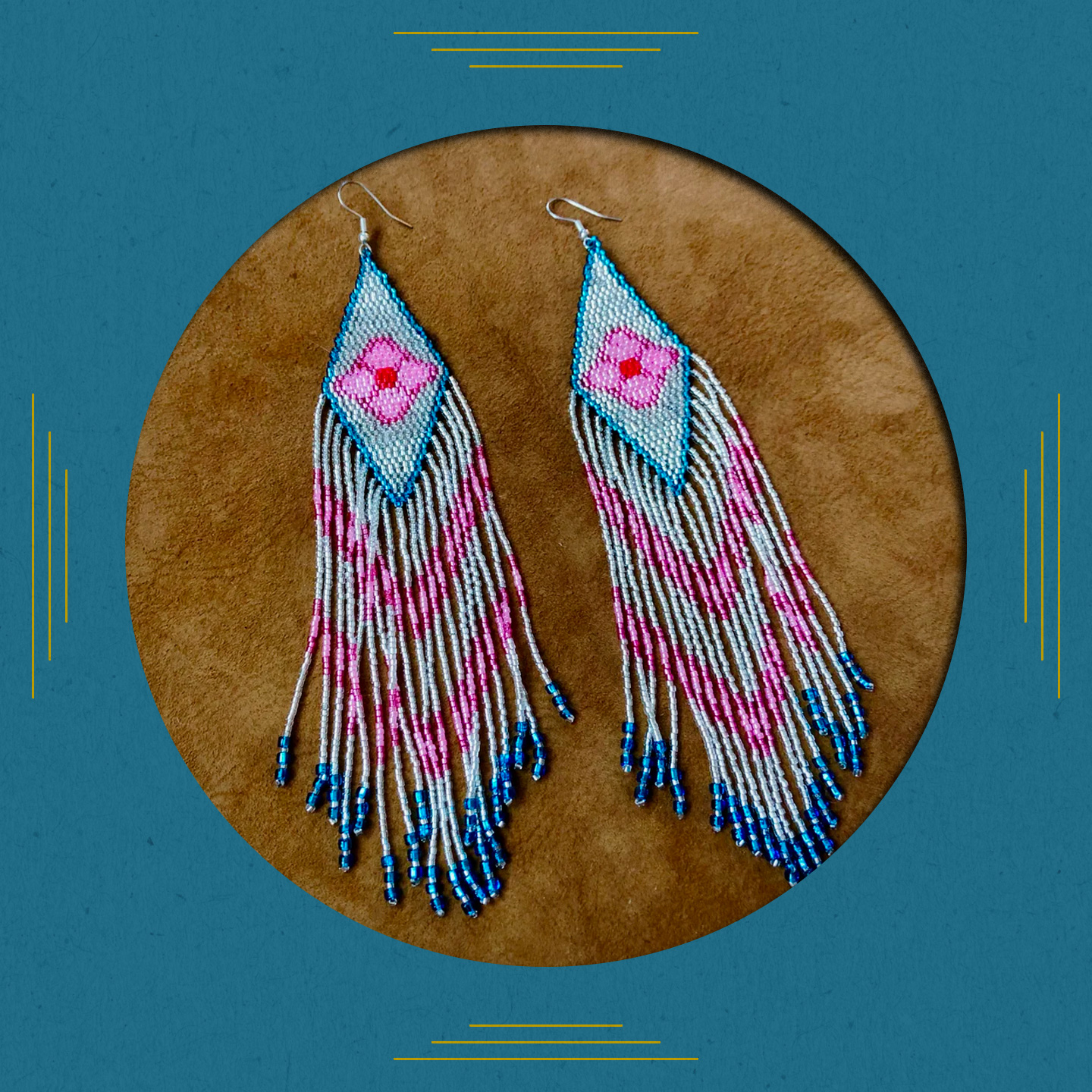 Floral Glisten Fringe Earrings Beyond Buckskin
