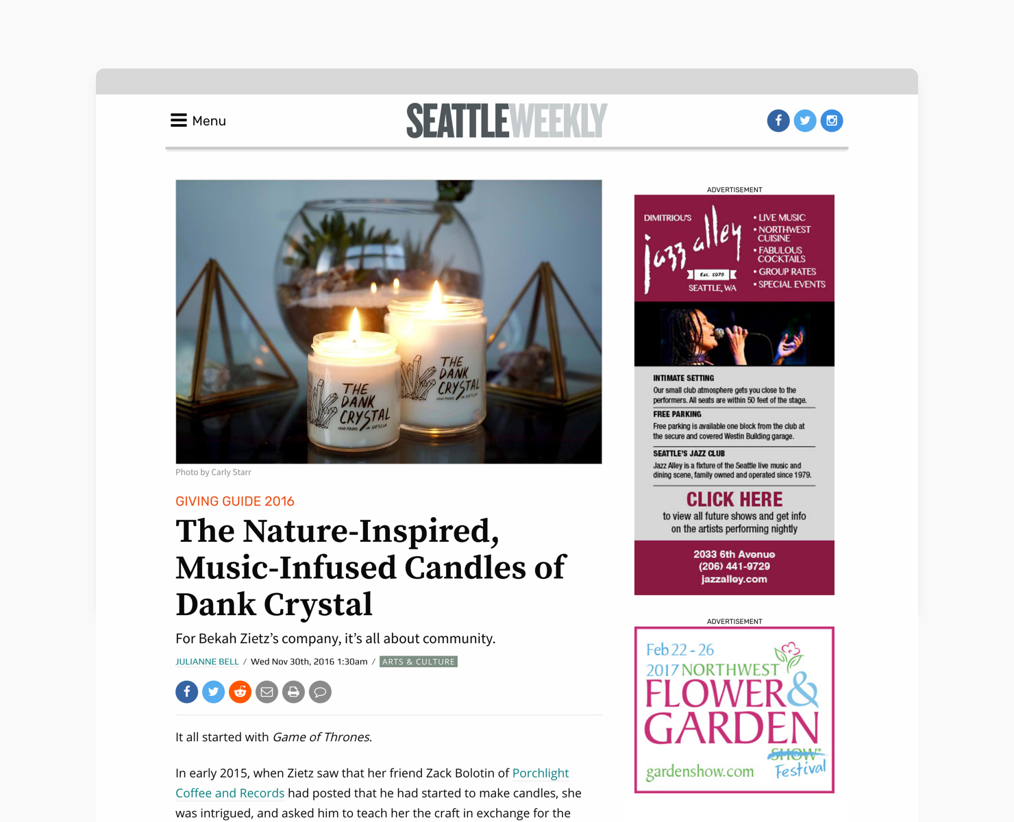 Dank Crystal x Seattle Weekly