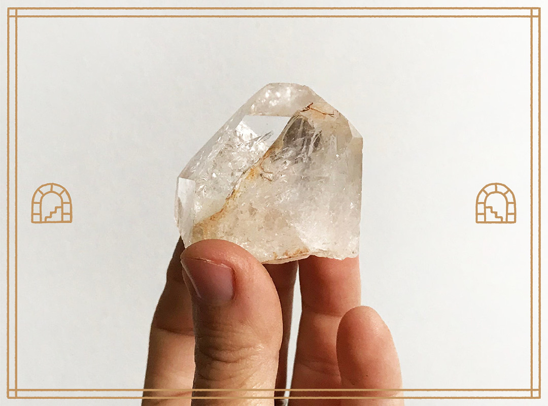 Quartz Crystal Cluster & Points / You Are A Gem / Medium by Chaparral Studio