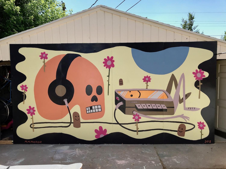 Picture Mike Murdock's large-scale Bonanza mural