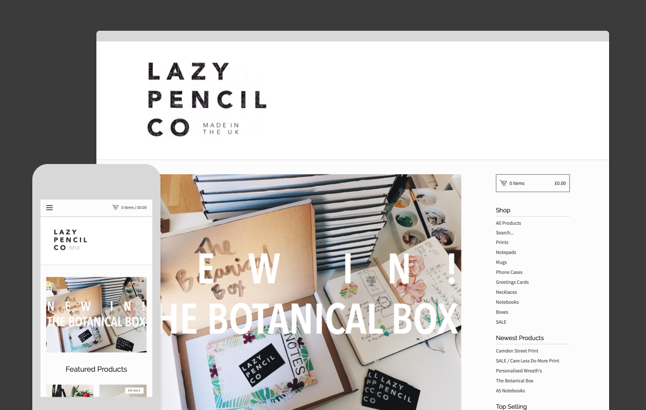 Lazy Pencil Company website