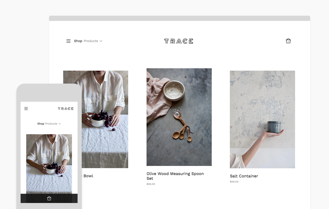 Introducing the trace theme for Big cartel themes templates free