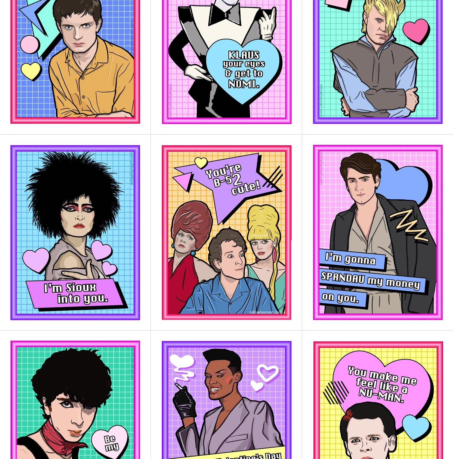NEW WAVE VALENTINE'S DAY CARD PACK