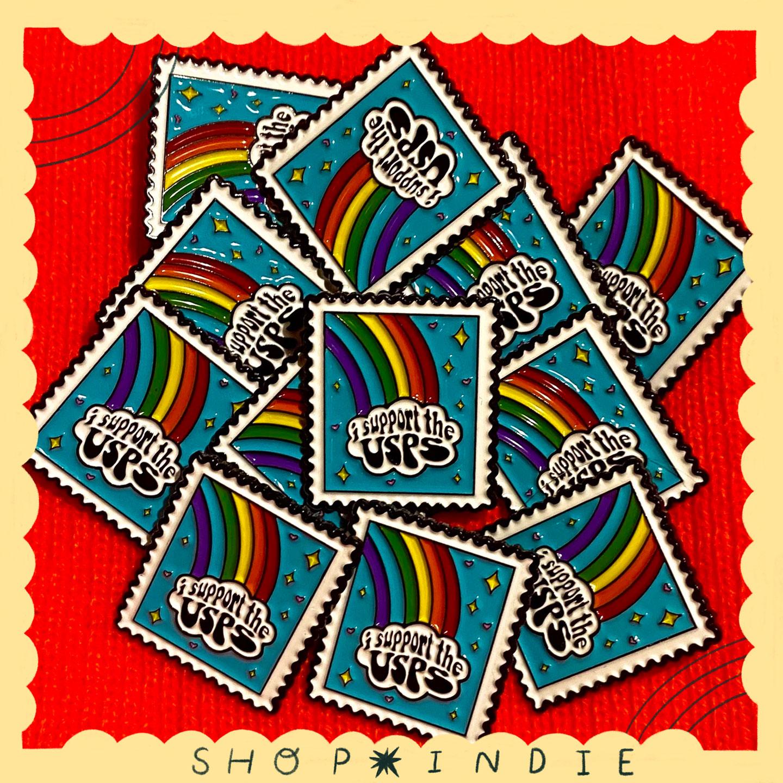 USPS Enamel Pin by Colette Bernard