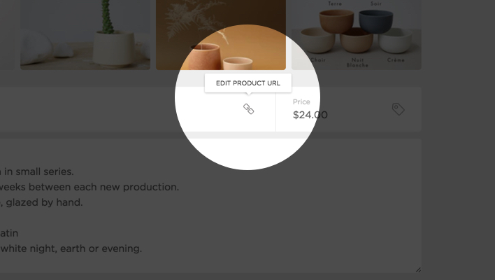 Edit Your Product URL
