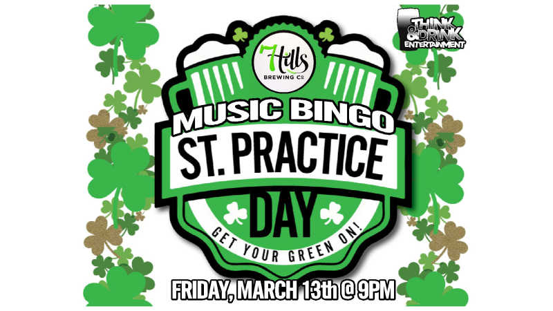 St. Practice Day Music Bingo