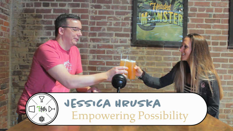 Jessica of Empowering Possibility, Beer Yoga
