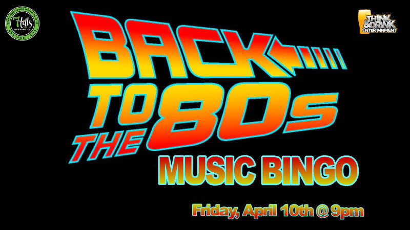 Back To The 80's Music Bingo