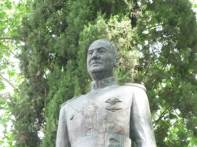 Estatua de Perón en Madrid