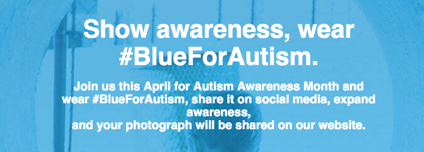 Show Awareness, Wear #BlueForAutism