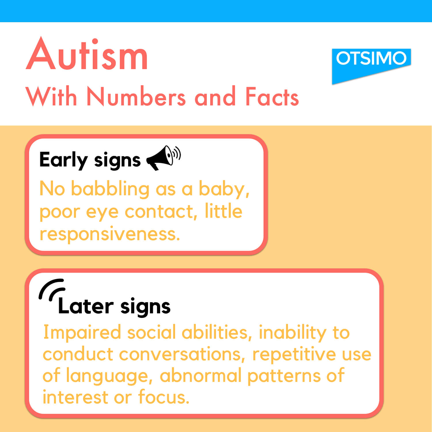 autism signs infographic