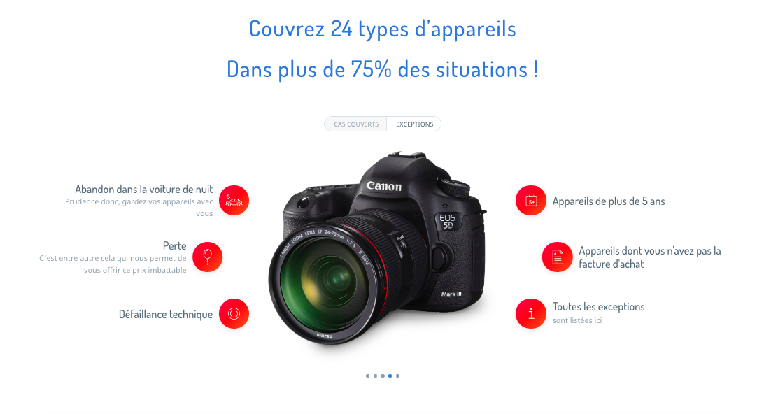 Assurance Appareil Photo Exclusions