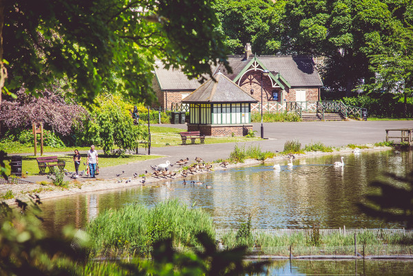 Take a stroll or feed the ducks in nearby Leazes Park