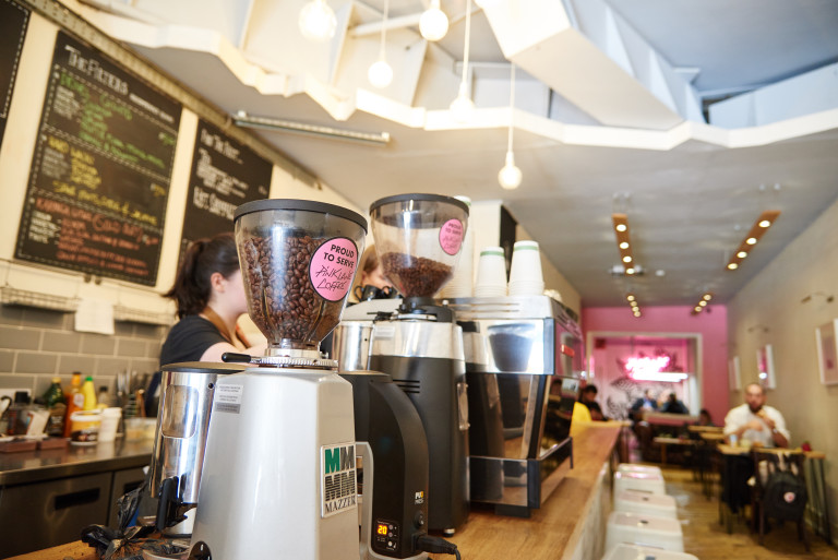 Pink Lane Coffee is a favourite of many of the Helix team.