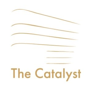 The Catalyst's brand draws inspiration from the building's design.
