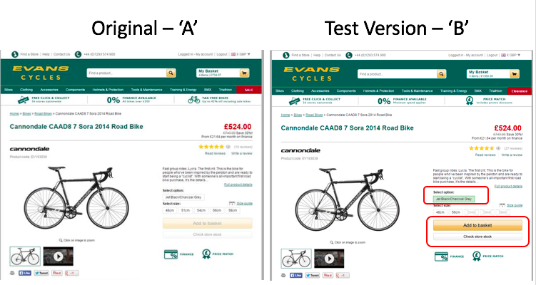 evans-cycles-ab-test