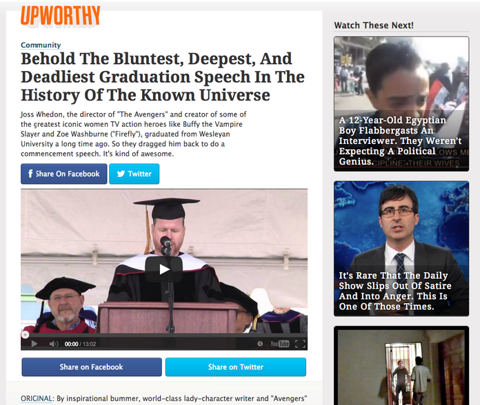 upworthy graduation speech
