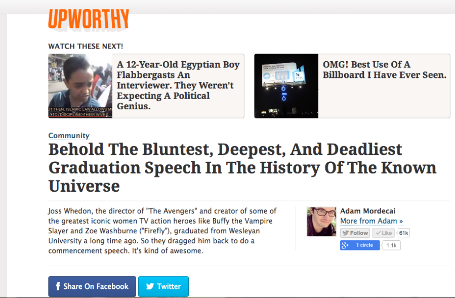 Upworthy screenshot 1