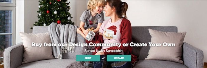 Spreadshirt Hero Image Example