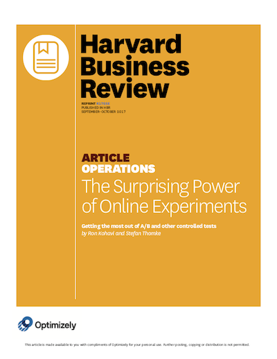 HBR Online Experiments