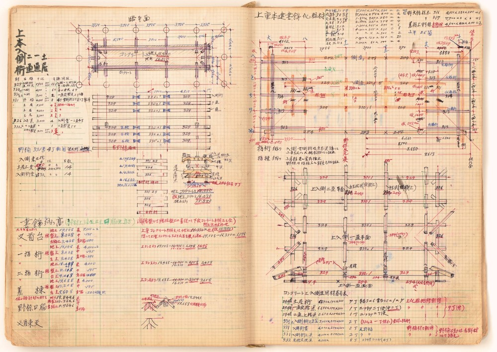 Notebooks with Technical Notes, 1970s. Written by Tsunekazu Nishioka. Private Collection