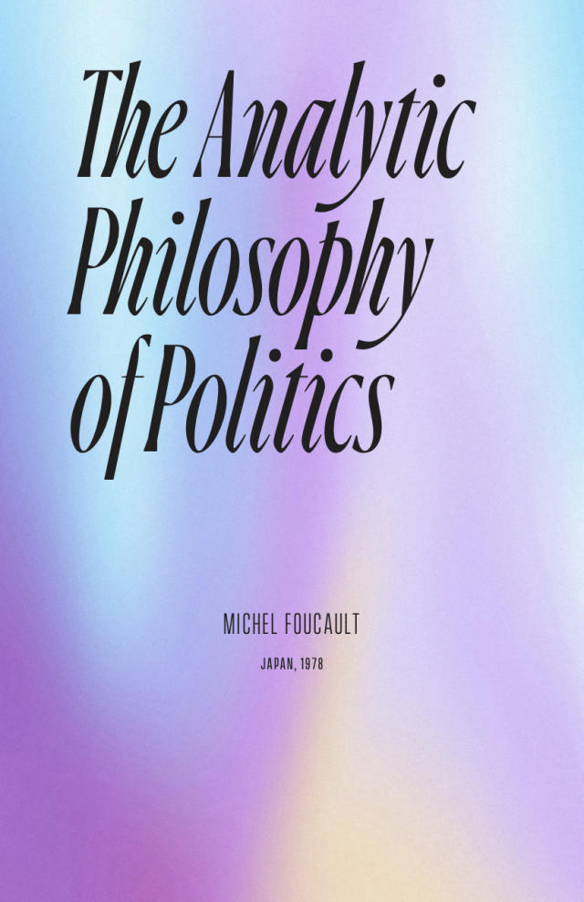 Cover Image for The Analytic Philosophy of Politics